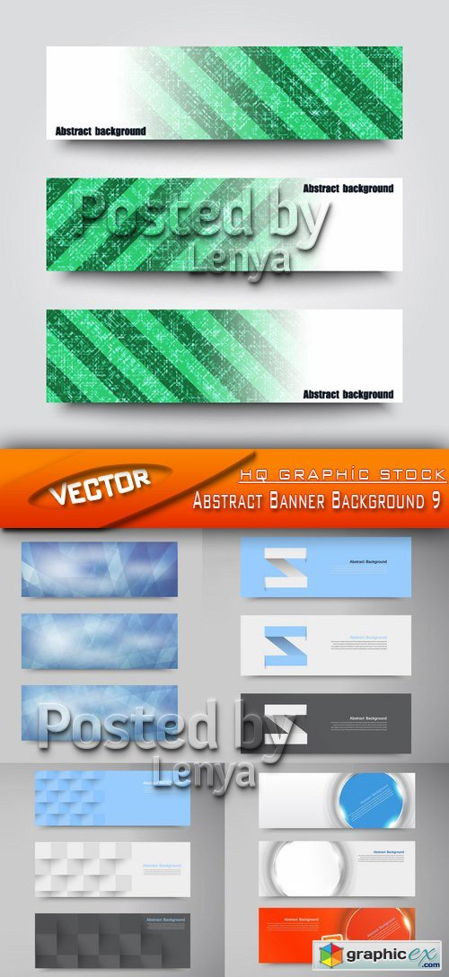 Stock Vector - Abstract Banner Background 9