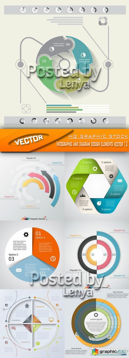Stock Vector - Infographic and diagram design elements vector 12