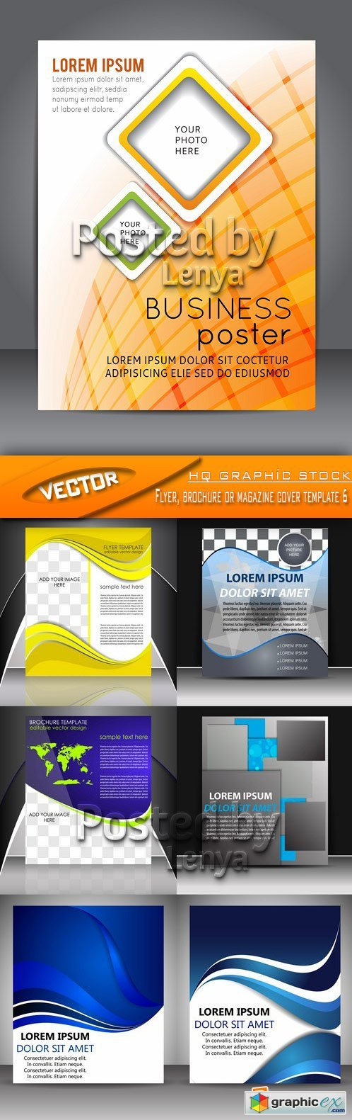 Stock Vector - Flyer, brochure or magazine cover template 6