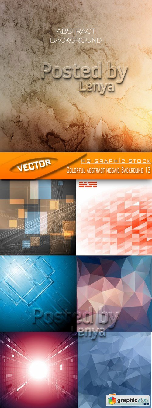 Stock Vector - Colorful abstract mosaic Backround 13