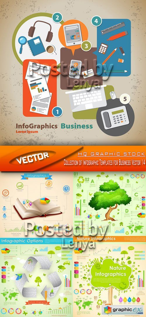 Stock Vector - Collection of Infographic Templates for Business Vector 14