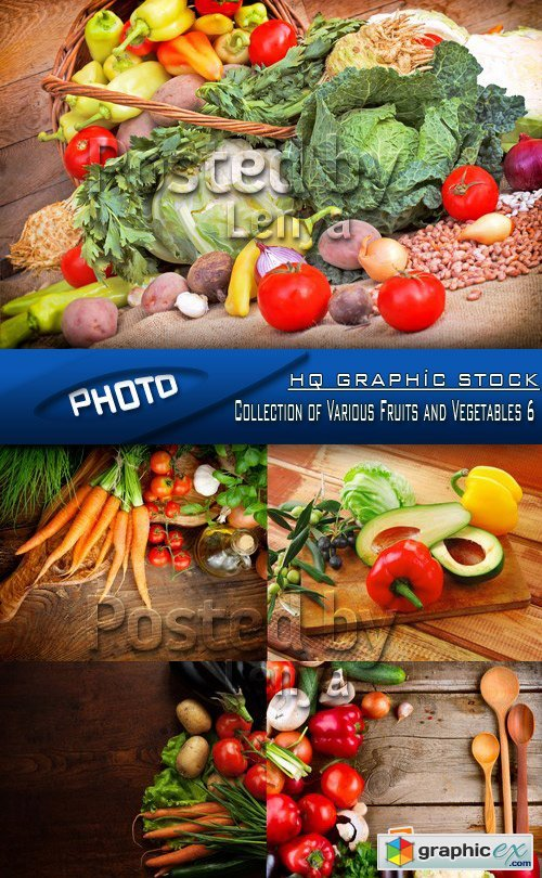 Stock Photo - Collection of Various Fruits and Vegetables 6