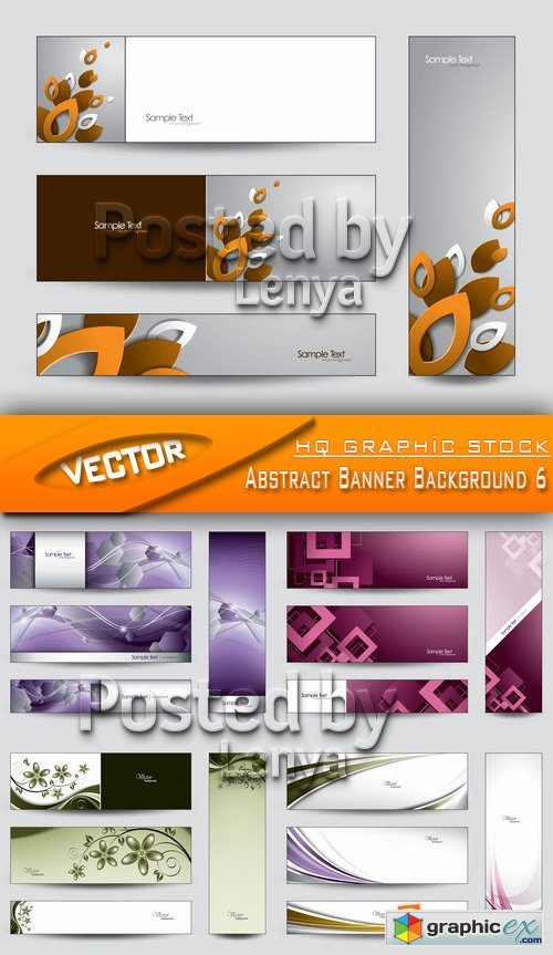 Stock Vector - Abstract Banner Background 6