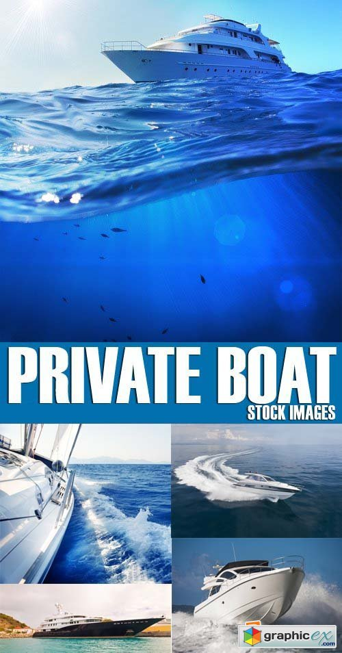 Stock Photos - Private boat, 25xJPG