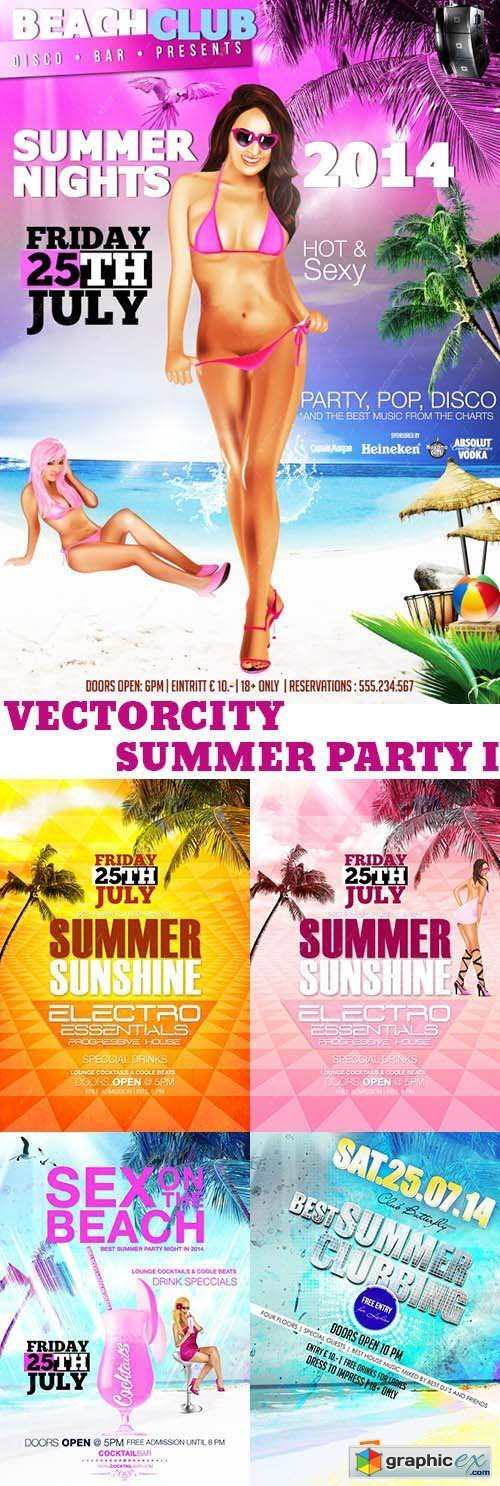 VectorCity Summer Party Pack 1