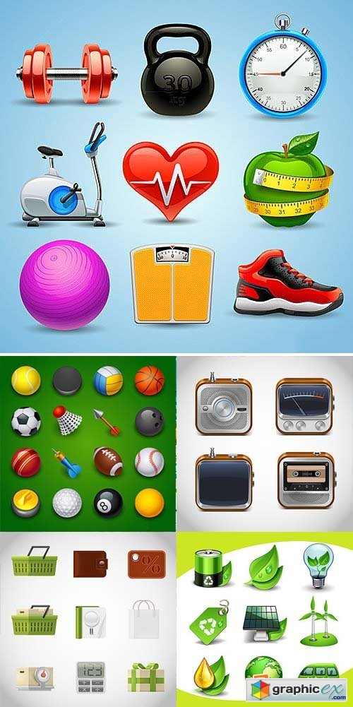 Application Icons Collection 31xEPS