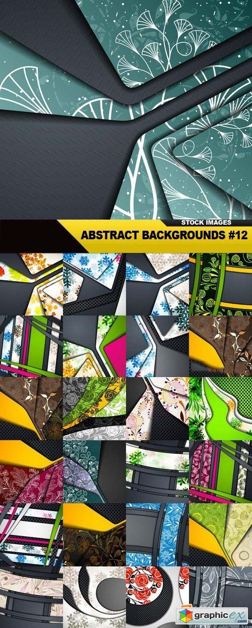 Abstract Backgrounds Vol.12, 25xEPS
