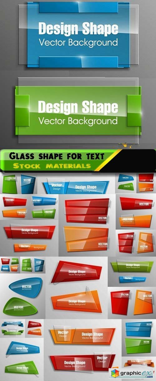 Glass shape for text in vector 25xEPS