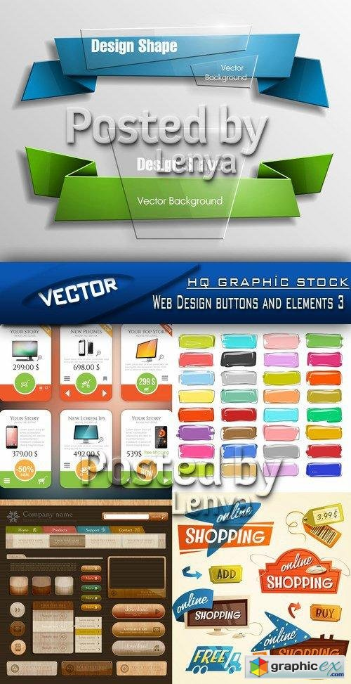Stock Vector - Web Design buttons and elements 3