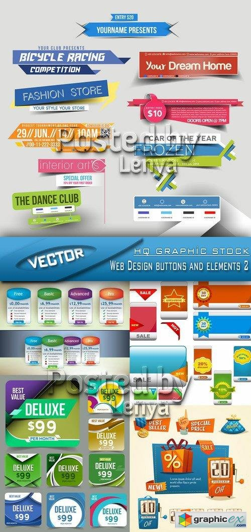 Stock Vector - Web Design buttons and elements 2
