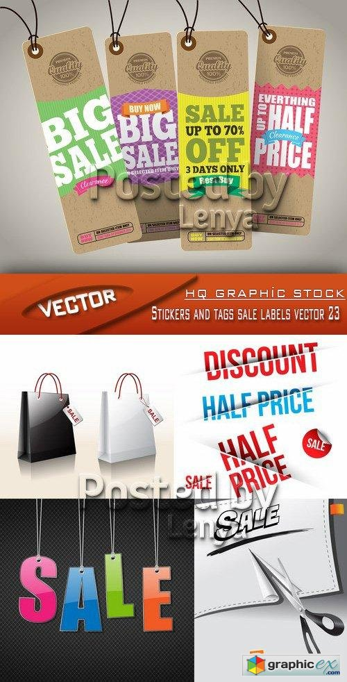 Stock Vector - Stickers and tags sale labels vector 23