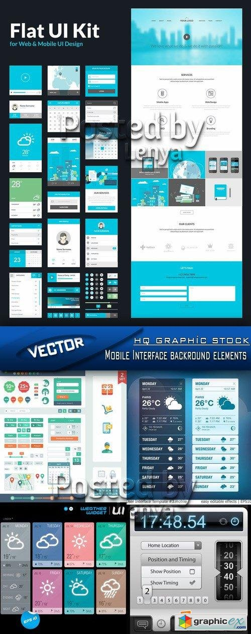 Stock Vector - Mobile Interface backround elements