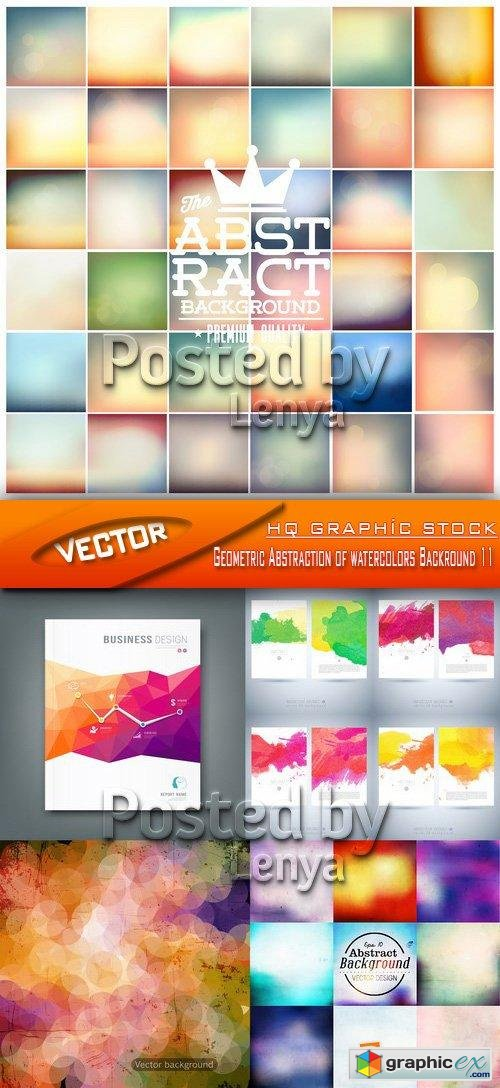 Stock Vector - Geometric Abstraction of watercolors Backround 011