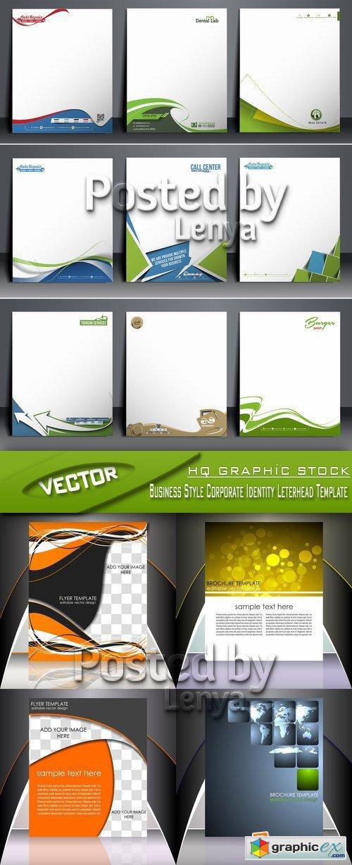 Stock Vector - Business Style Corporate Identity Leterhead Template