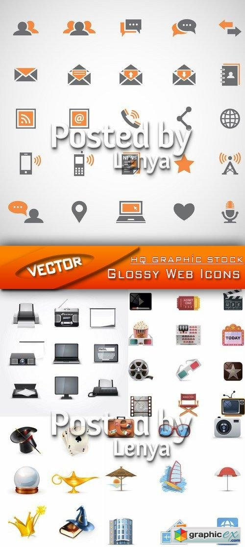 Glossy Web Icons 01