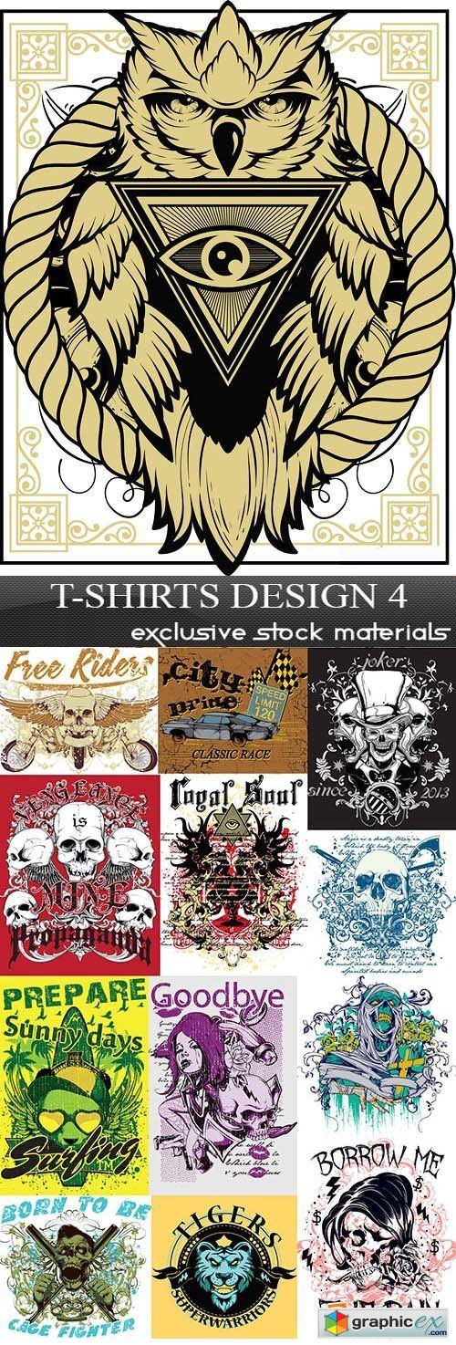 T-Shirts Design 4, 25xEPS