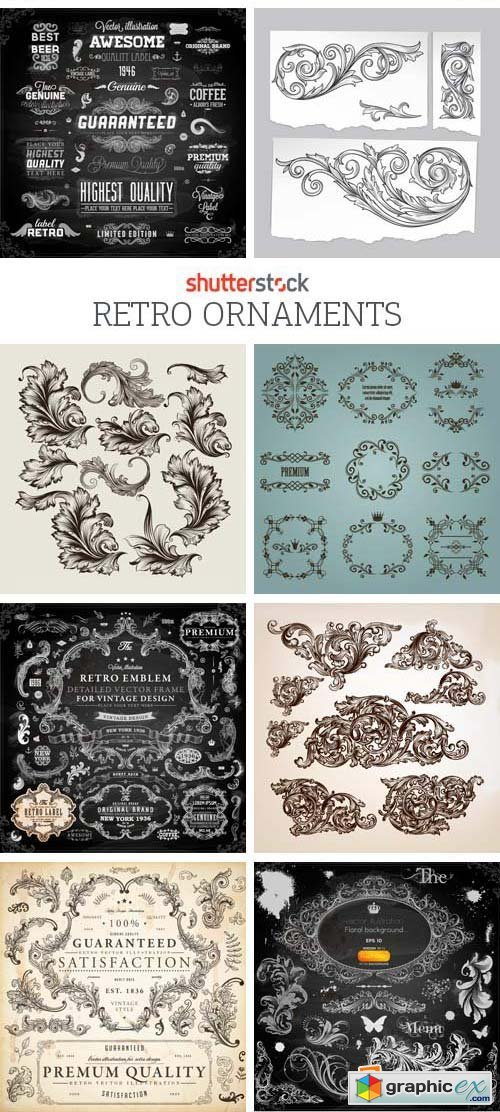 Amazing SS - Retro Ornaments, 25xEPS