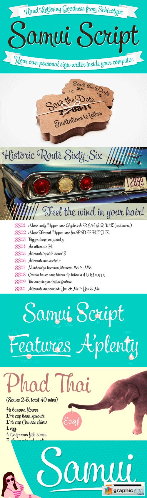 Samui Script Font for $60 » Free Download Vector Stock Image