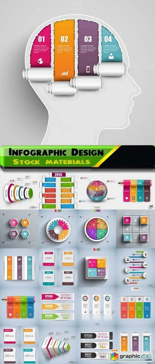 Infographic Design Elements in vector set from stock 74 25xEPS
