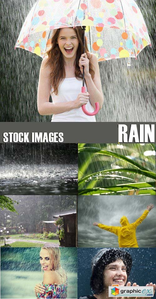 Stock Photos - Rain, 44xJPG!