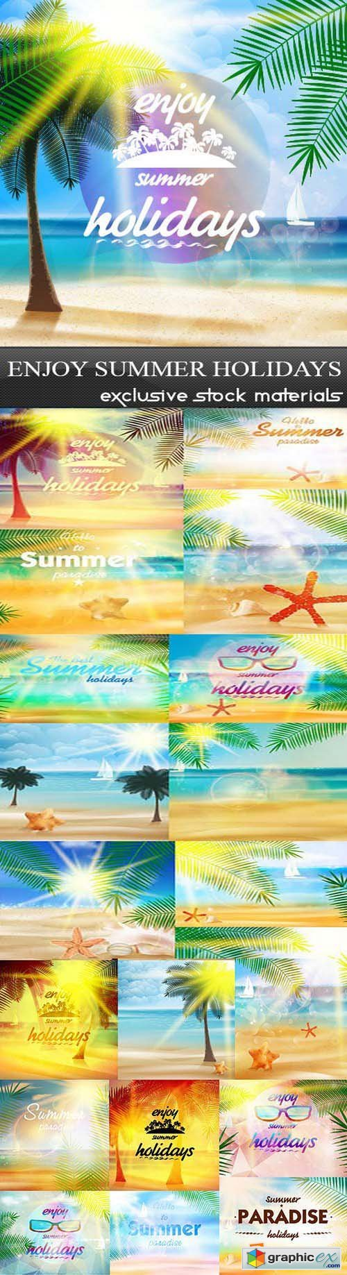 Enjoy Summer Holidays, 25xEPS