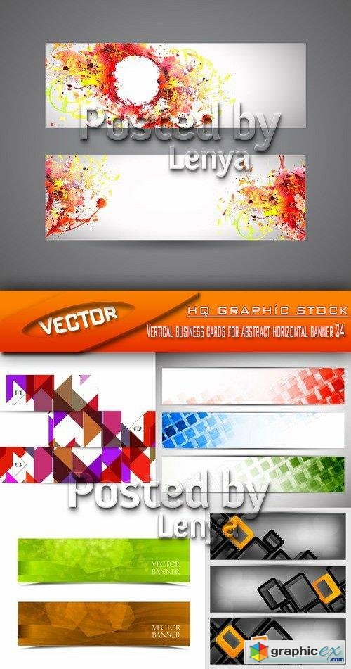 Stock Vector - Vertical business cards for abstract horizontal banner 24