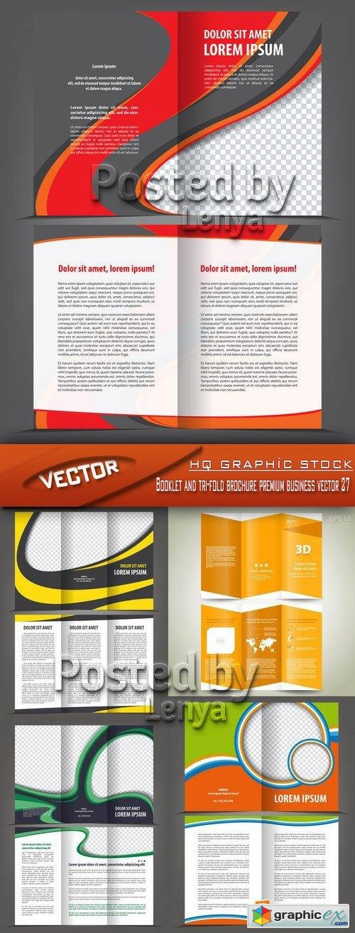 Stock Vector - Booklet and tri-fold brochure premium business vector 27