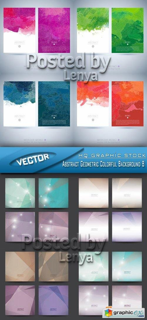 Stock Vector - Abstract Geometric Colorful Background 8