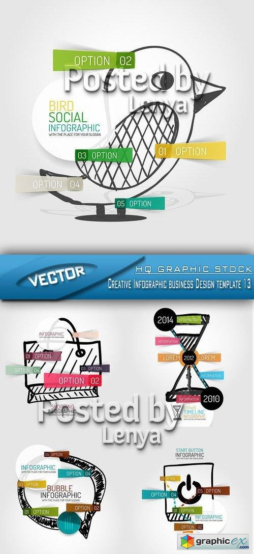 Stock Vector - Creative Infographic business Design template 13