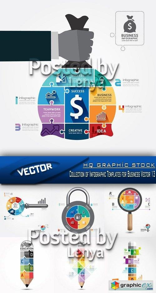 Stock Vector - Collection of Infographic Templates for Business Vector 13
