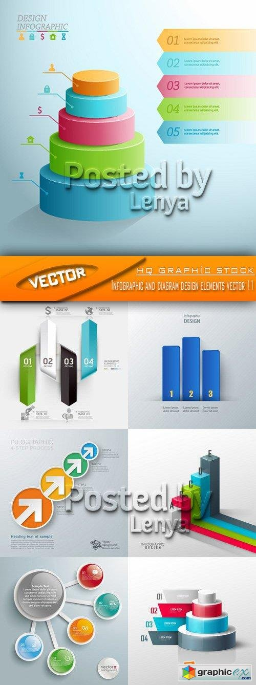 Stock Vector - Infographic and diagram design elements vector 11