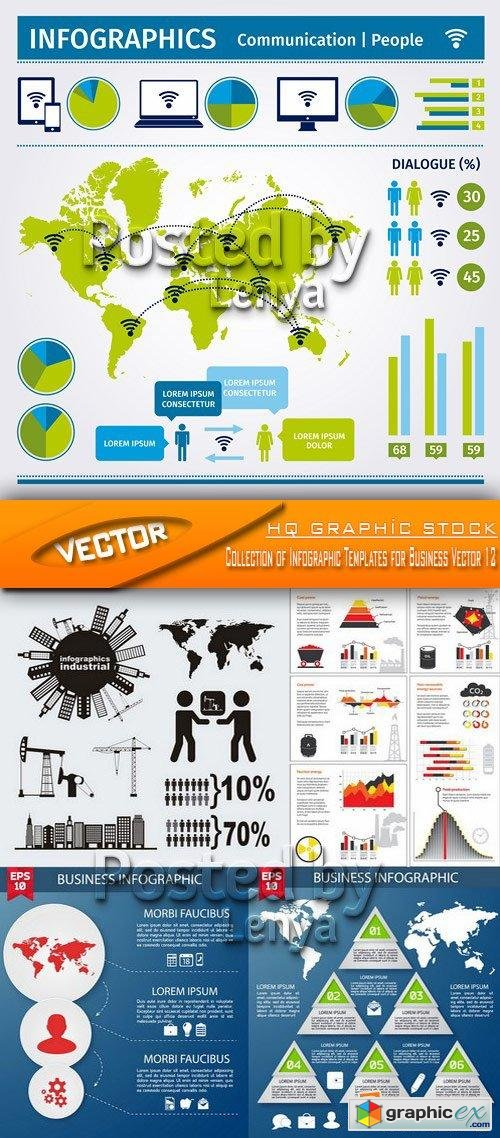 Stock Vector - Collection of Infographic Templates for Business Vector 12