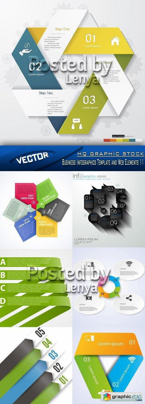 Stock Vector - Business Infographics Template and Web Elements 11
