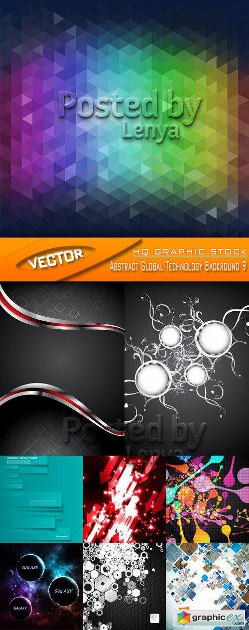 Stock Vector - Abstract Global Technology Backround 9