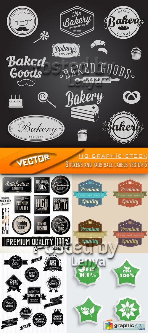 Stock Vector - Stickers and tags sale labels vector 5