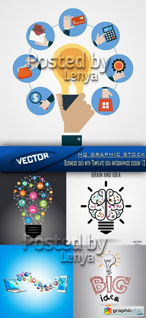 Stock Vector - Business idea with Template idea infographics design 13