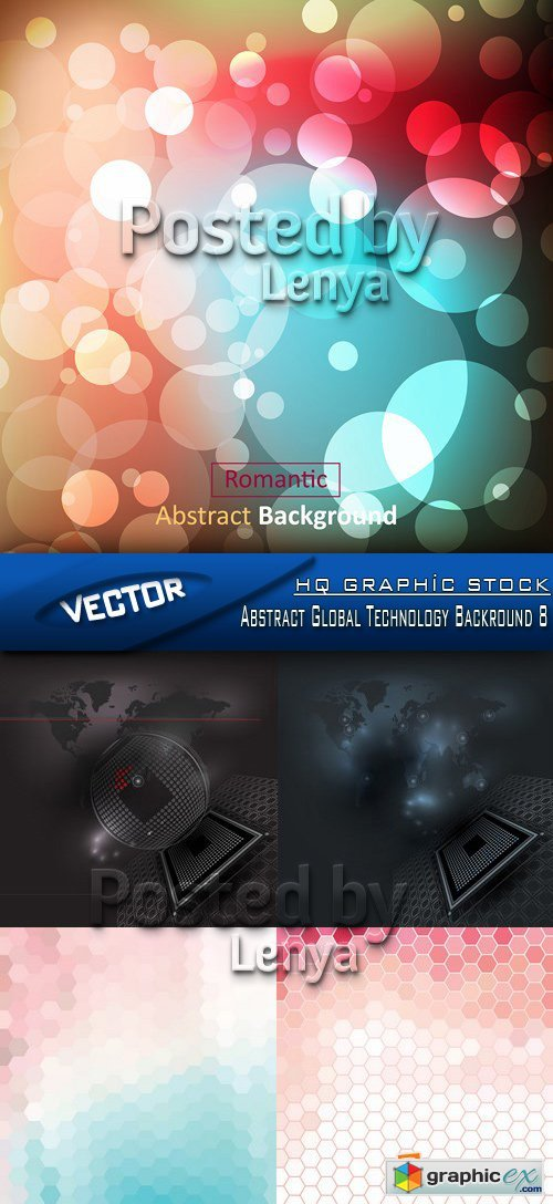 Stock Vector - Abstract Global Technology Backround 8