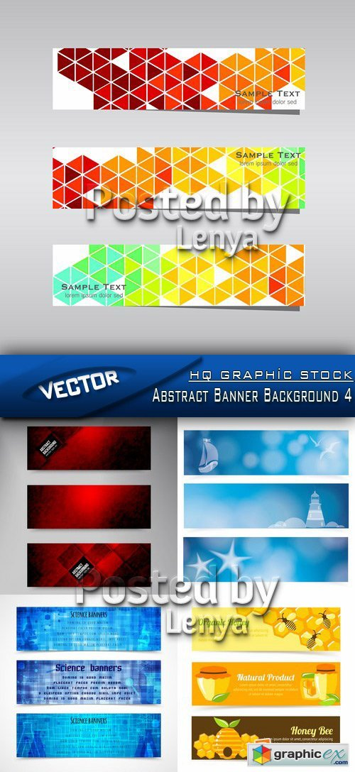 Stock Vector - Abstract Banner Background 4