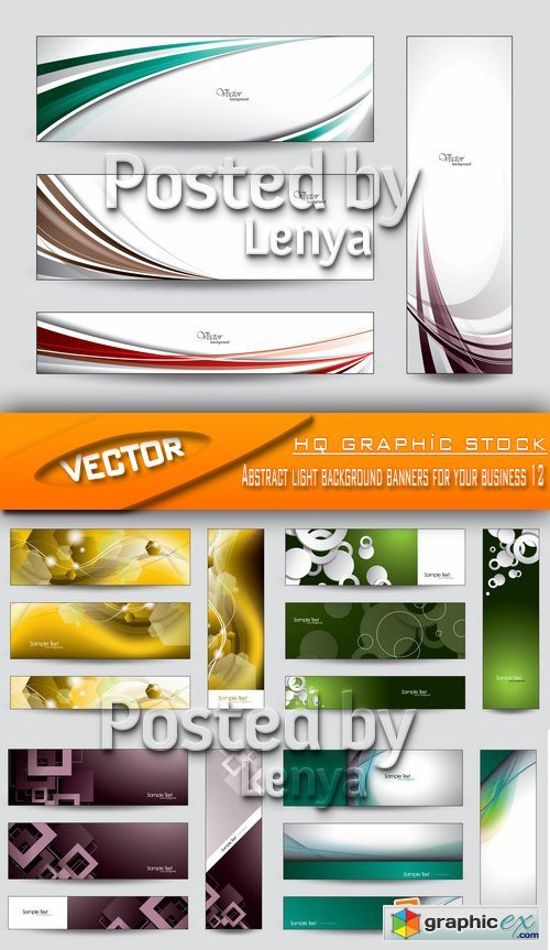 Stock Vector - Abstract light background banners for your business 12