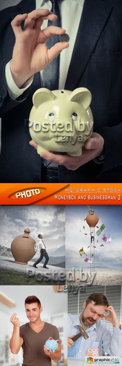 Stock Photo - Moneybox and businessman 3