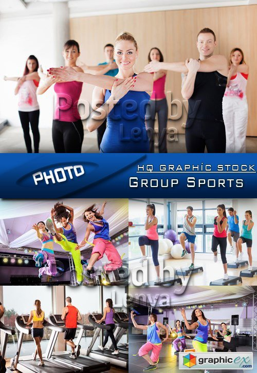 Stock Photo - Group Sports