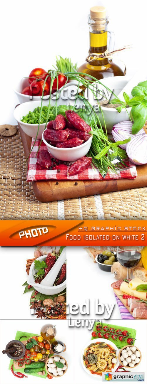 Stock Photo - Food isolated on white 2