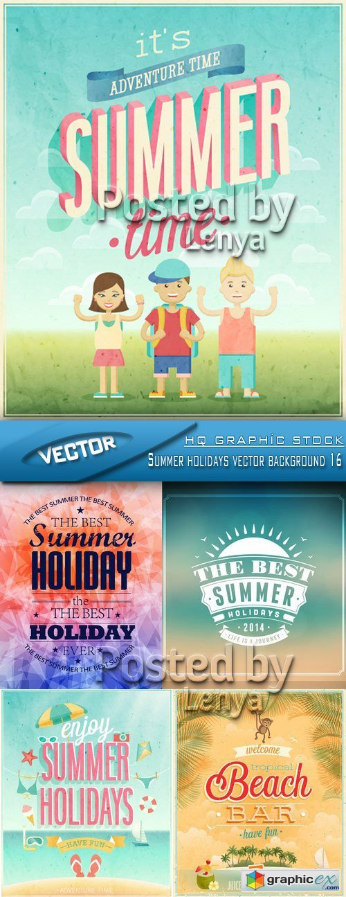 Stock Vector - Summer holidays vector background 16