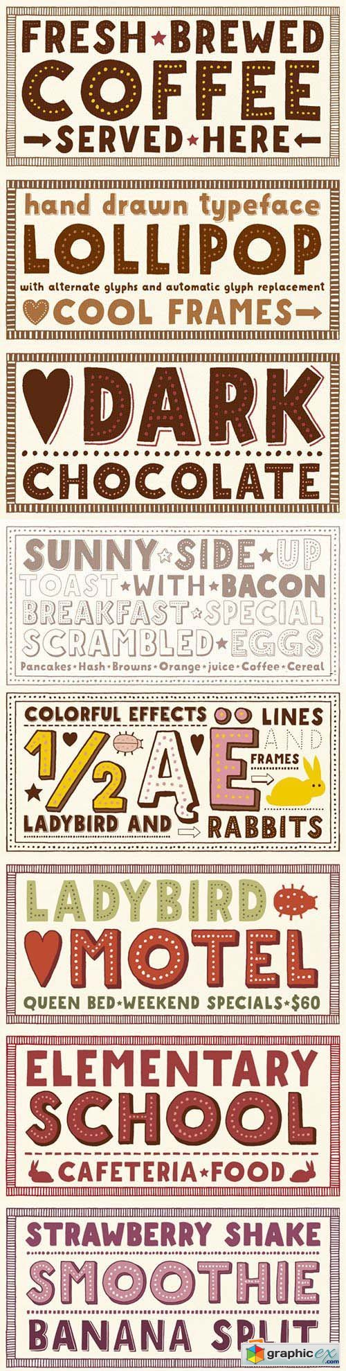 Mrs Lollipop Font Family - 13 Fonts $250