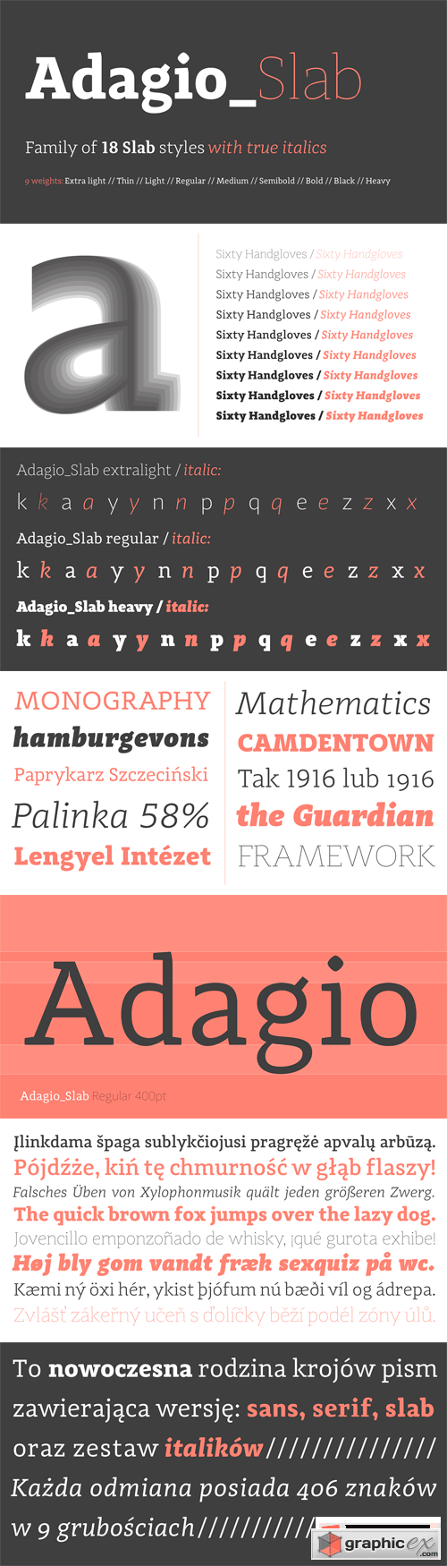 Adagio Slab Font Family - 18 Fonts for $270