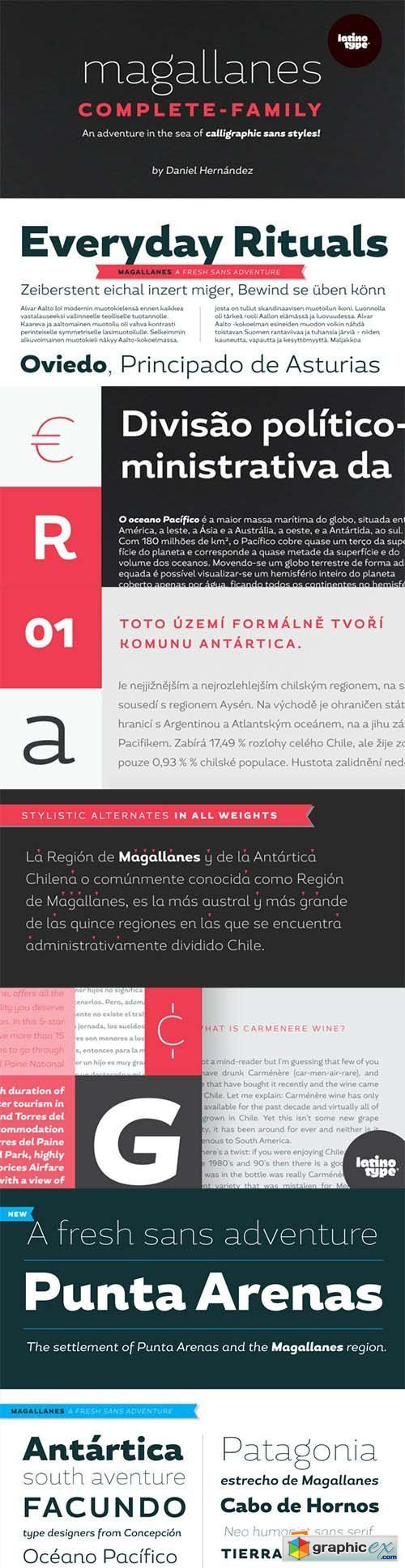 Magallanes Font Family - 16 Fonts $464