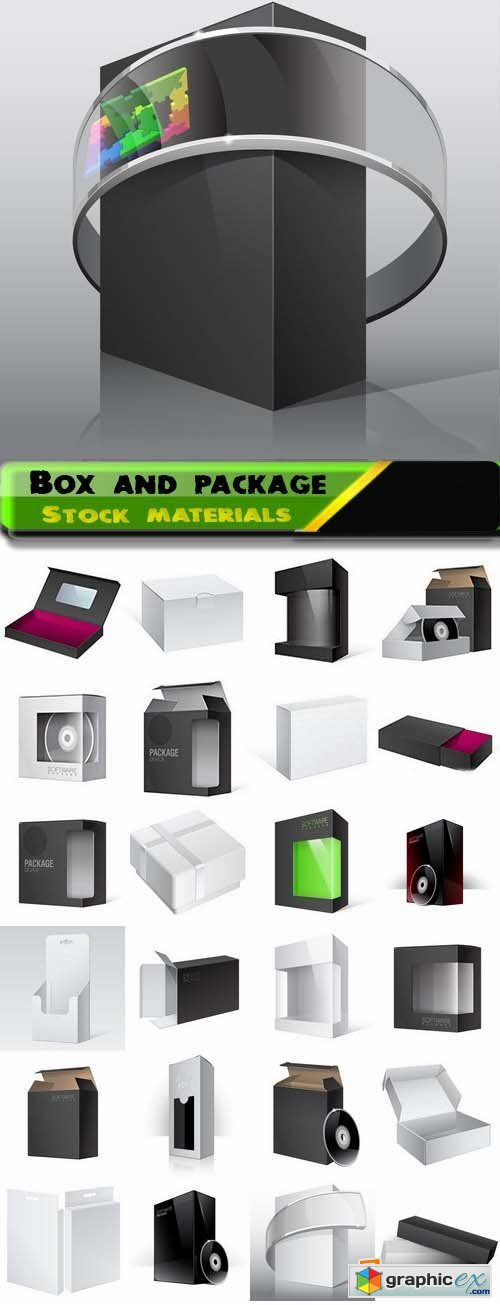 Box and package in vector from stock 25xEPS
