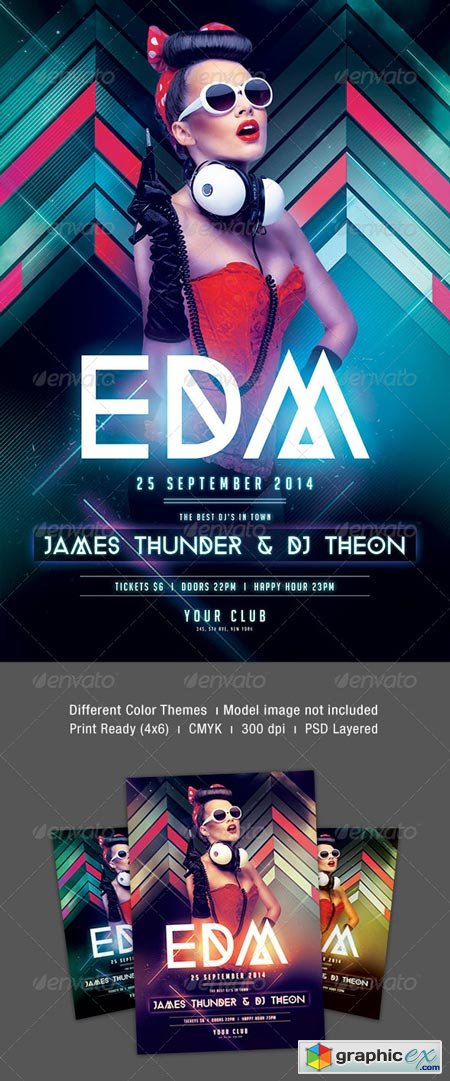 EDM Party Flyer 8551572