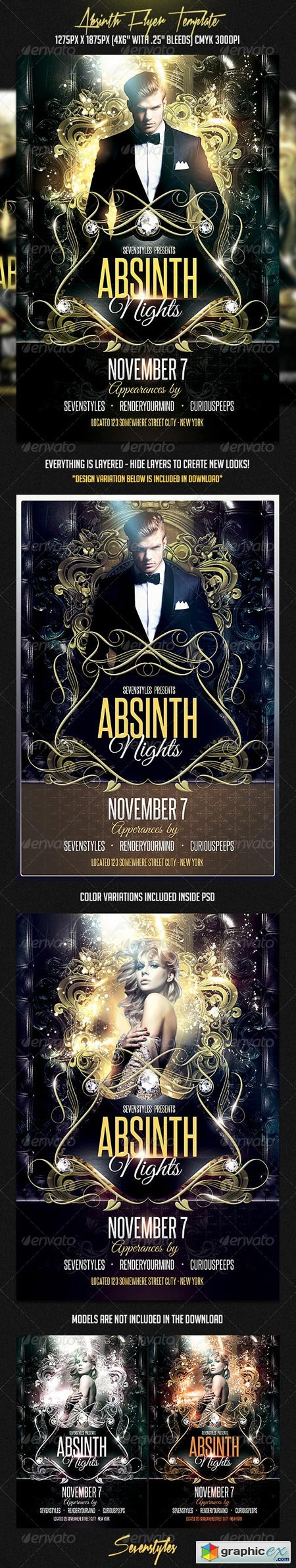 Absinth Flyer Template 7317229