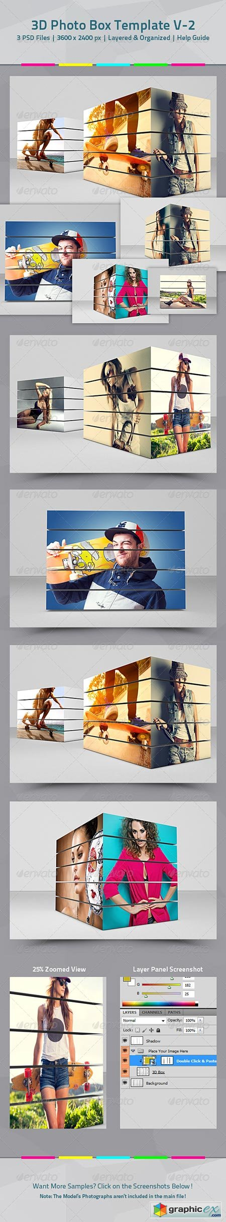 3D Box Photo Template V.02 8339985